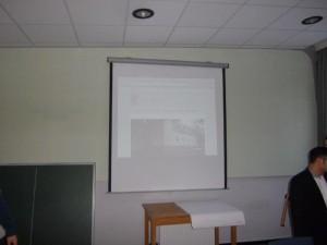 Leinwand im Lernraum Obergeschoss